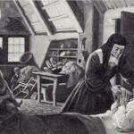 Luisa accudisce una mamma ammalata